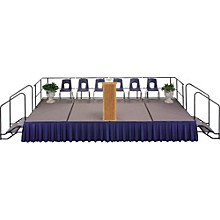 Midwest Folding Products 4' Deep X 8' Wide Single Height Portable Stage & Seated Riser