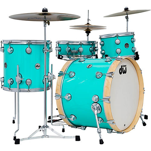 DW 4-Piece Collector's Series Santa Monica Shell Pack with Satin Chrome Hardware