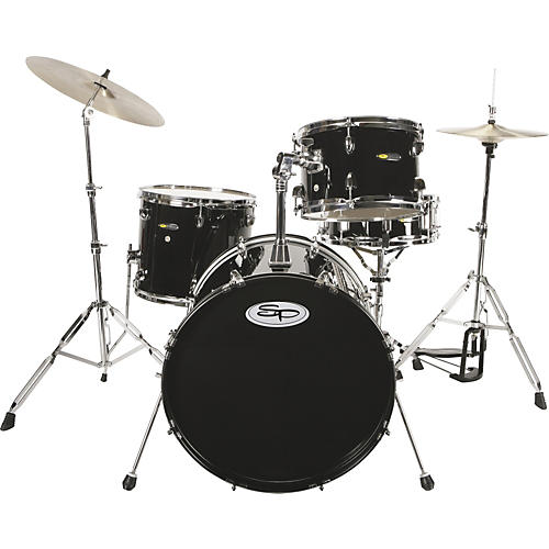 Sound Percussion Labs 4-Piece Drum Set with Cymbals