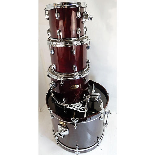 used groove percussion 4 piece shells drum kit red guitar center. Black Bedroom Furniture Sets. Home Design Ideas