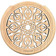 """The Lute Hole Company 4"""" Soundhole Covers for Feedback Control in Maple or Walnut"""