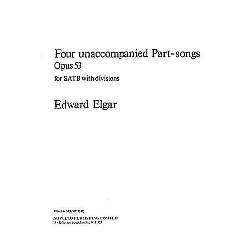Novello 4 Unaccompanied Part-Songs SATB Composed by Edward Elgar