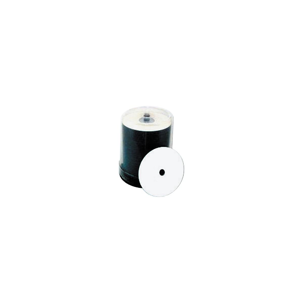 Taiyo Yuden 4.7GB DVD+R, 16X, White Inkjet-Printable and Hub Printable, 100 Disc Spindle
