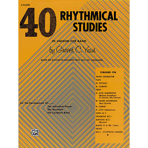 Alfred 40 Rhythmical Studies Horn in F