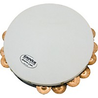 Grover Pro Projection-Plus Double Row Tambourines  Custom Dry Copper 10 In.