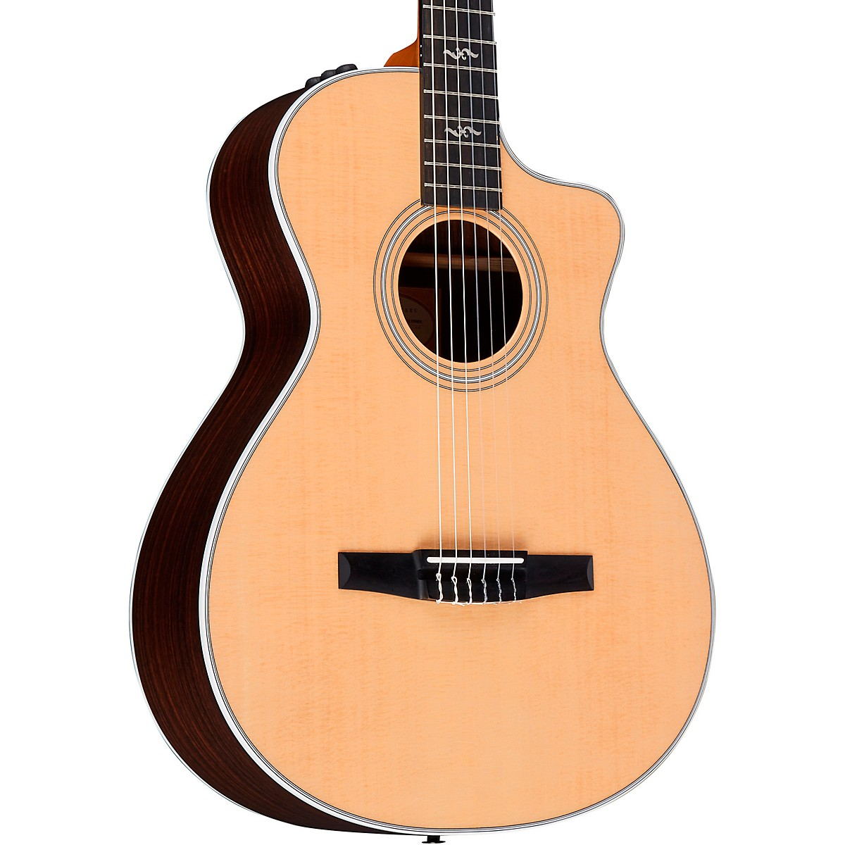 Taylor 412ce-N Rosewood Grand Concert Nylon String Acoustic-Electric Guitar