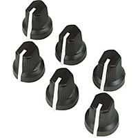 Fender Black Pointer Amplifier Knobs  6-Pack