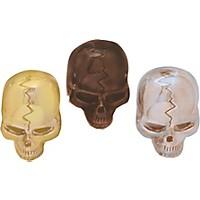 Q Parts Skull Knobs Chrome Single