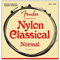 Fender 130 Clear/Silver Classical Nylon  ...