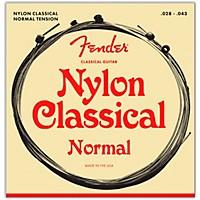 Fender 130 Clear/Silver Classical Nylon Guitar Strings Ball End