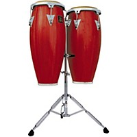Lp Lpa646 Aspire Conga Set With Double Stand Red Wood