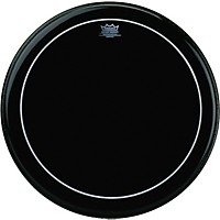 Remo Ebony Series Pinstripe Bass Drumhead  24 In.