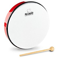 Nino Hand Drum With Beater Red 10 In.