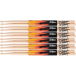 Zildjian 6 Pair Natural Hickory 5A Wood Drumsticks Plus 1 Pair Free