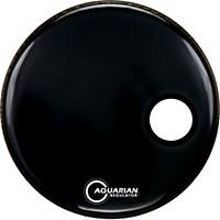 Aquarian Regulator Black Resonant Kick Drumhead Black 22 In.