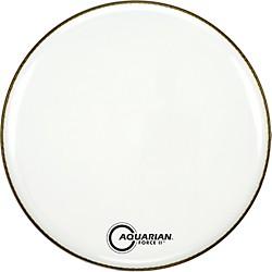 Aquarian Force Ii Resonant Bass Drum Head White 24 In.