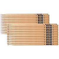 Nova 12-Pair Hickory Drumsticks Nylon Rock