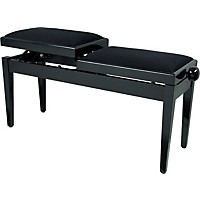 Musician's Gear Double Adjustable Piano Bench Piano Black