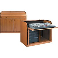 Raxxess Elite Roll-Top Rack Mixing Desk Walnut