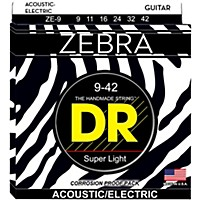 Dr Strings Zebra Acoustic Electric Lite  ...