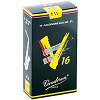 Vandoren Alto Sax V16 Reeds Strength 1.5 Box Of 10