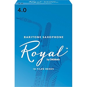 Rico Royal Baritone Saxophone Reeds, Box Of 10 Strength 4
