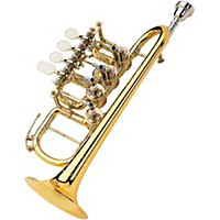 Scherzer Meister Johannes Rotary Valve Piccolo Trumpet 8111 Gold Brass, Lacquer