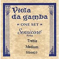 Super Sensitive Sensicore Treble Gamba Strings Set, Medium