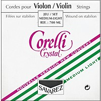 Corelli Crystal Violin Strings Set, Loop E Light 4/4 Size