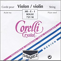 Corelli Crystal Violin Strings Set, Loop E Medium 4/4 Size