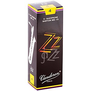 Vandoren Zz Baritone Saxophone Reeds Strength 4, Box Of 5