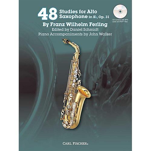 Carl Fischer 48 Studies for Alto Saxophone in Eb, Op. 31 Book/CD