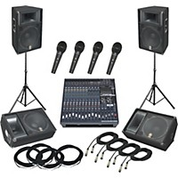 Yamaha Yamaha Emx5016cf / S115v Pa Package With Monitors