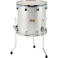 Pork Pie Maple Floor Tom Silver Glass 16 X  ...