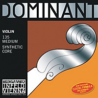 Thomastik Dominant 4/4 Size Violin Strings 4/4 Set, Steel E String, Loop End