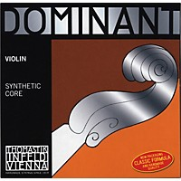 Thomastik Dominant 1/4 Size Violin Strings 1/4 Wound E String, Ball End