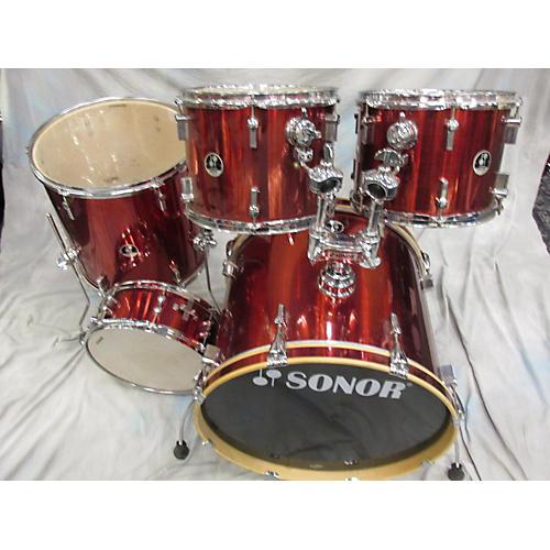 Sonor 5 Piece 1000 Red Drum Kit