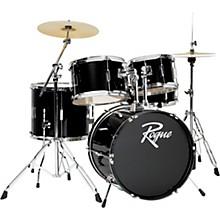 5-Piece Complete Drum Set Black