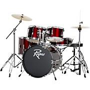 5-Piece Complete Drum Set Wine Red