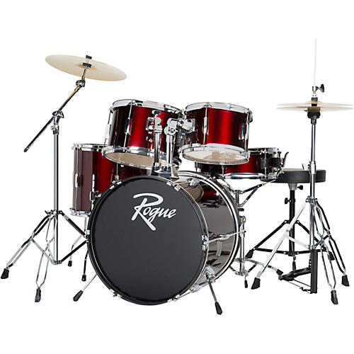 rogue 5 piece complete drum set wine red guitar center