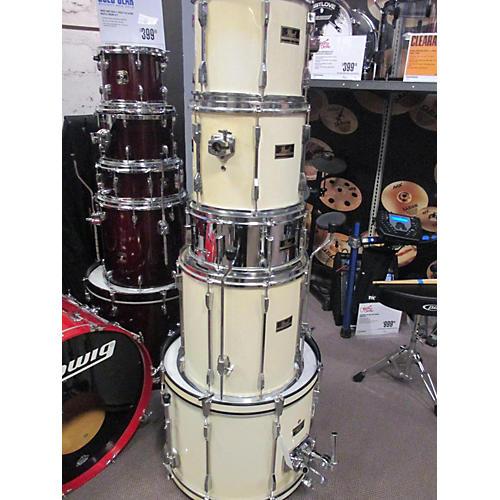 Pearl 5 Piece Export Antique White Drum Kit