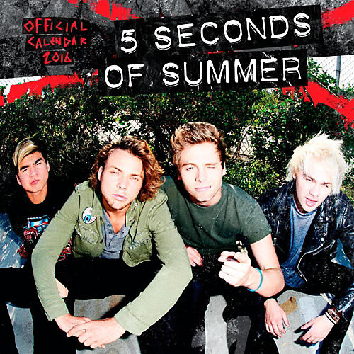 Browntrout Publishing 5 Seconds of Summer 2016 Mini Calendar 7 x 7 In.