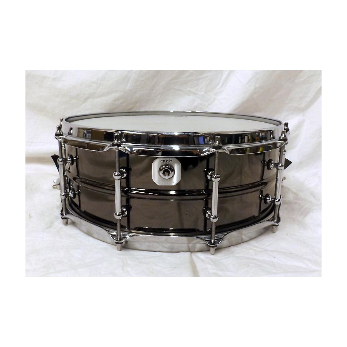 Crush Drums & Percussion 5.5X14 ROLLED BRUSHED NICKLE Drum