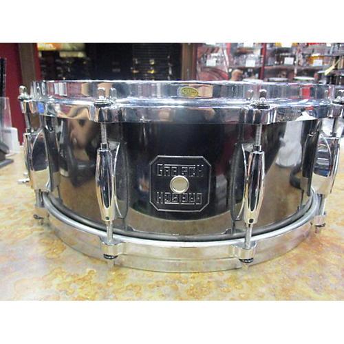 Gretsch Drums 5.5X14 Solid Steel Snare Drum Black Nickel Drum