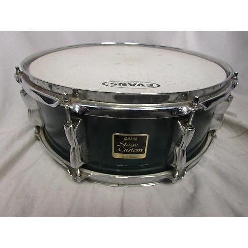 used yamaha 5 5x14 stage custom snare drum green 10 guitar center. Black Bedroom Furniture Sets. Home Design Ideas