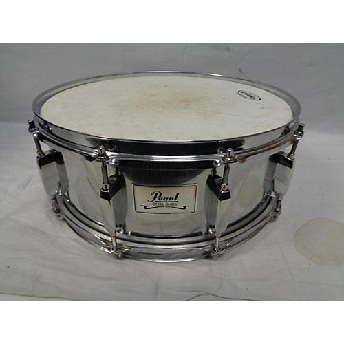Pearl Steel Shell Snare : used pearl 5 5x14 steel shell snare drum chrome 10 guitar center ~ Russianpoet.info Haus und Dekorationen