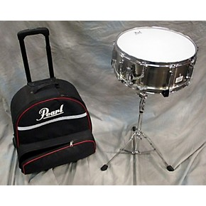 used pearl 5 5x14 student snare drum w rolling case and stand drum guitar center. Black Bedroom Furniture Sets. Home Design Ideas