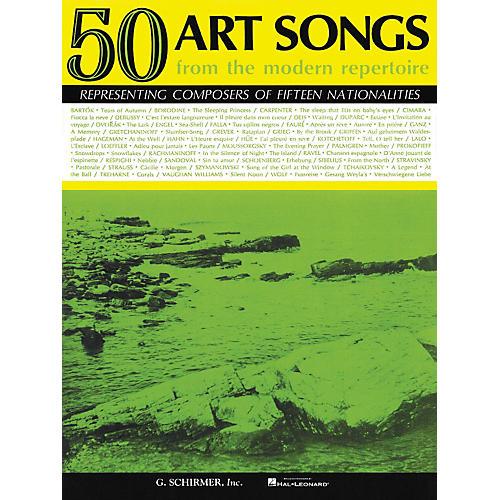 G. Schirmer 50 Art Songs From The Modern Repertoire Voice / Piano
