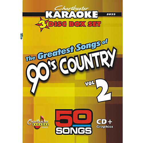 Chartbuster Karaoke 50 Song Pack Greatest Songs Of 90s Country Volume 2 CD G