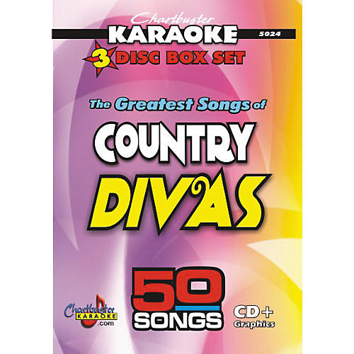 Chartbuster Karaoke 50 Song Pack Greatest Songs of Country Divas